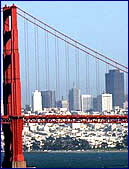 Golden Gate Bridge and City