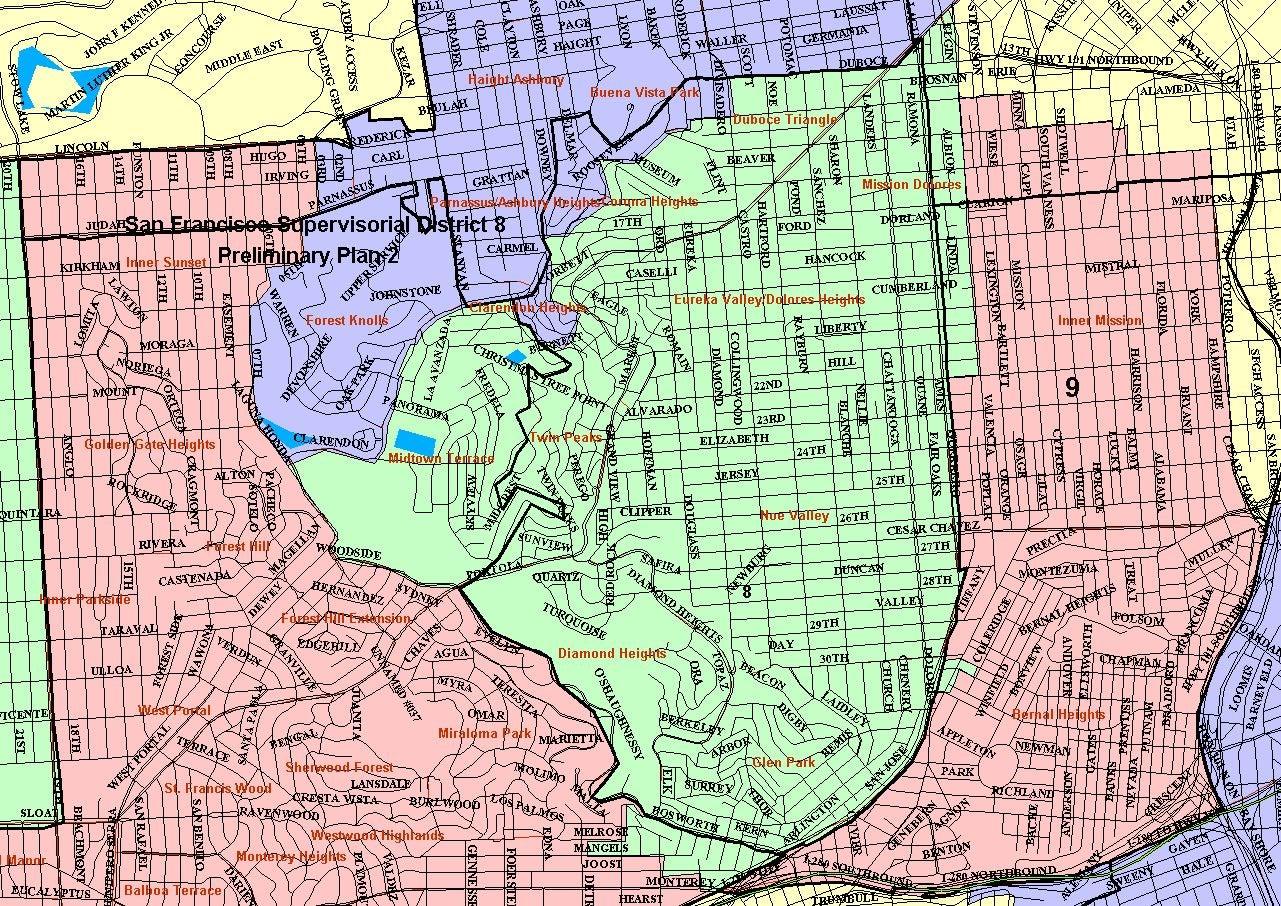 sf district maps  u0026 data