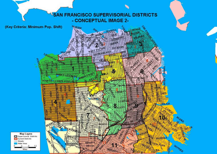 Districts Of San Francisco Map.Supervisorial District Conceptual Maps Sf Gsa