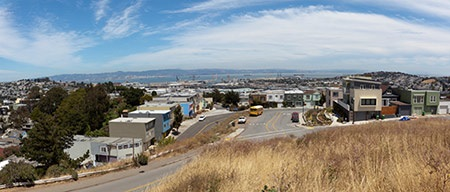 Bayview Hunters point panoramic photo