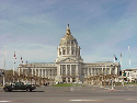 San Francisco City Hall as seen from Larkin Street