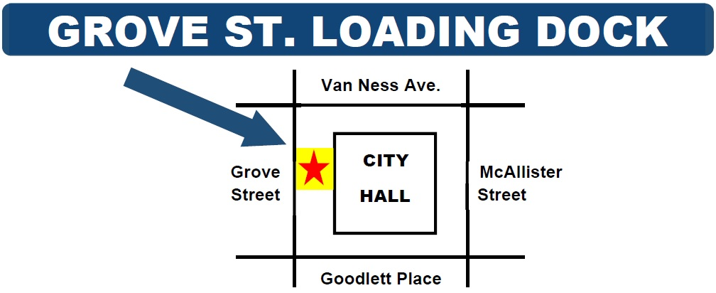 City Hall Grove Street Loading Dock Map