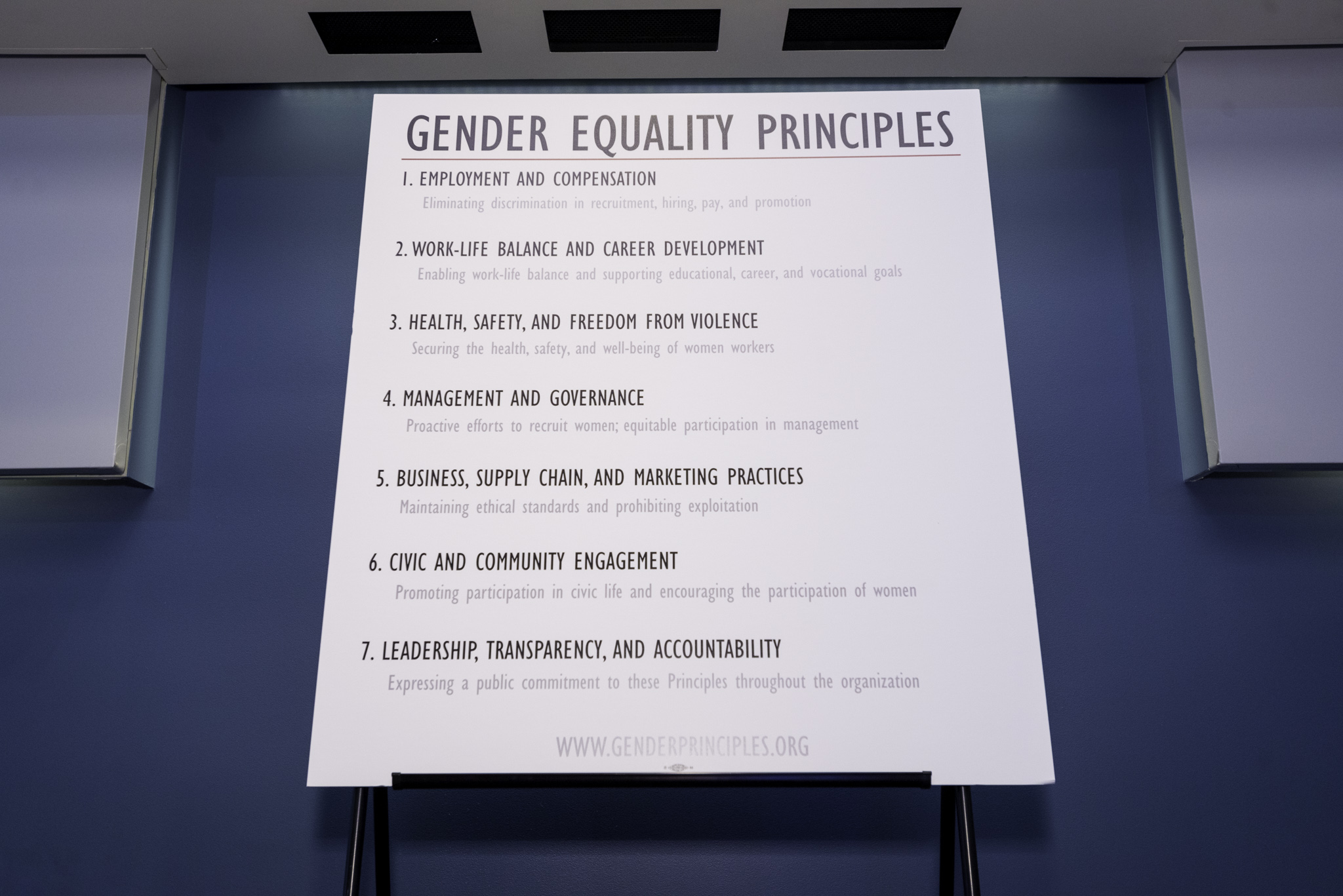 Gender Equality Principles Board on January 30, 2015