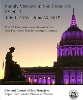 Family Violence Council Report 2017 cover. photo of City Hall