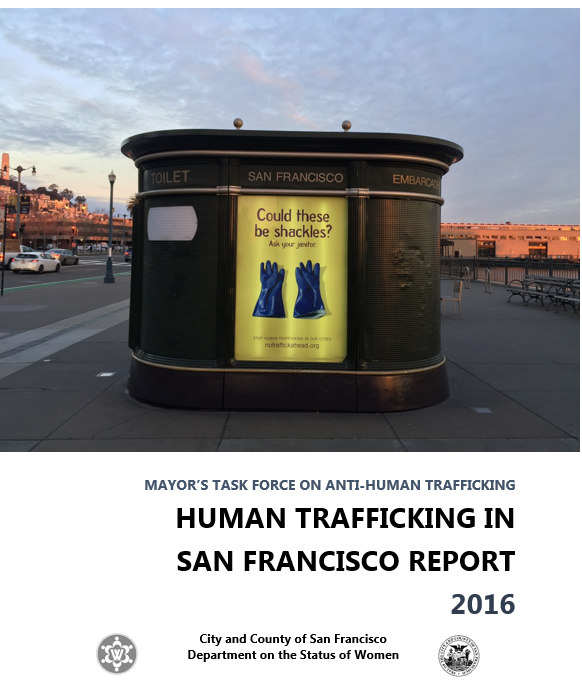 Cover of 2016 Human Trafficking Report