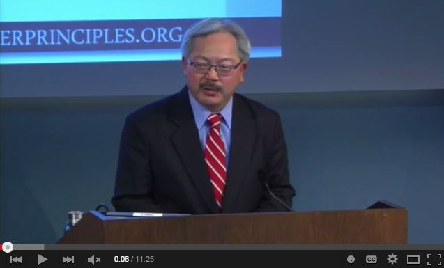 Mayor Lee at Gender Equality Principles Forum on January 30, 2015