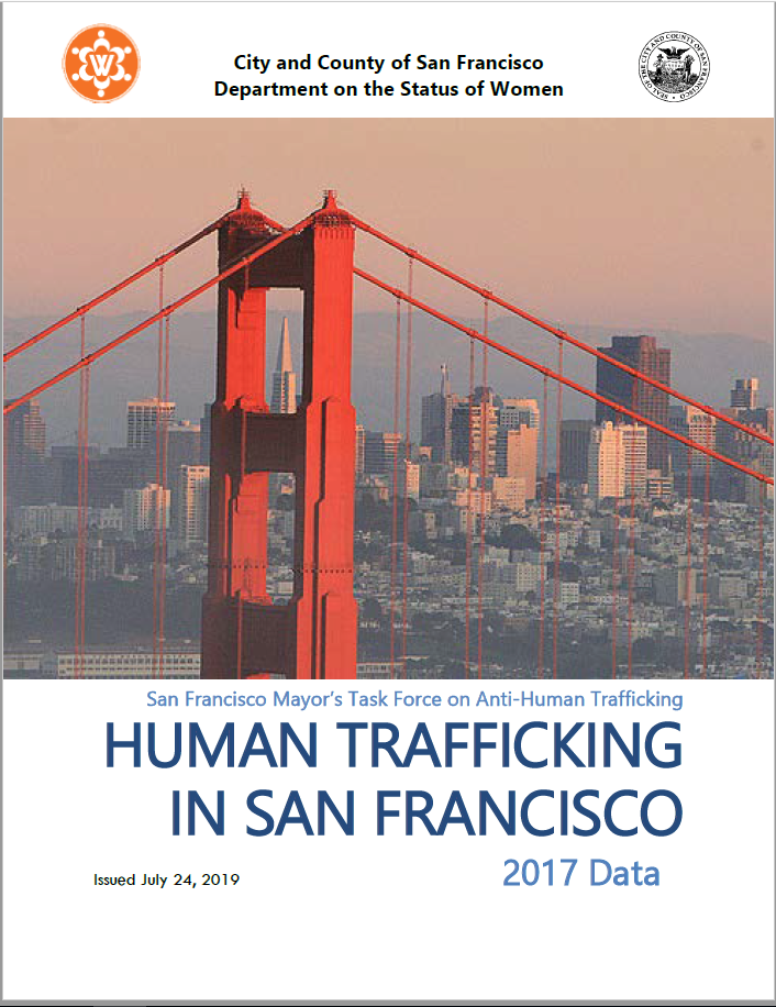 Cover of 2017 Data Human Trafficking Report