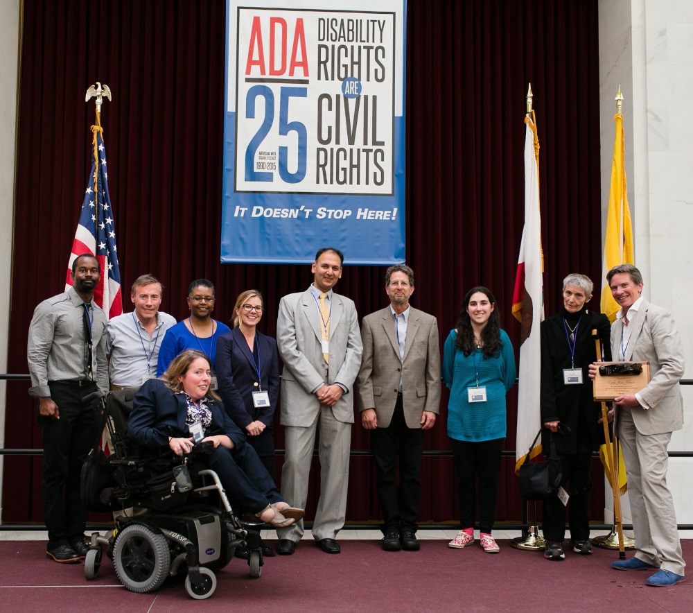 Mayor's Office on Disability Staff at the ADA 25 Celebration in City Hall