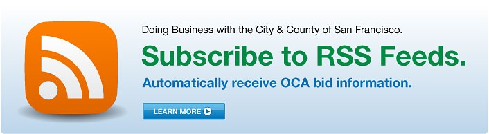 Subscribe to RSS feeds. Automatically receive OCA bid information.