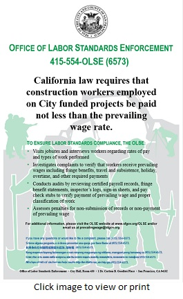 Prevailing Wage Poster