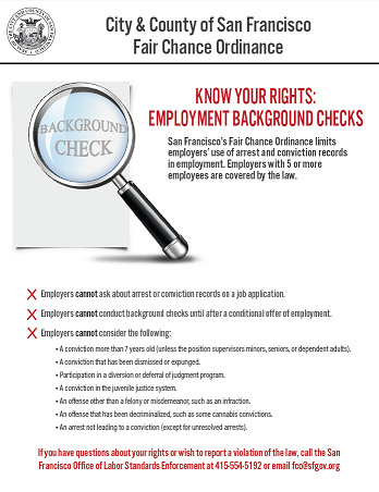 Background Check Flyer