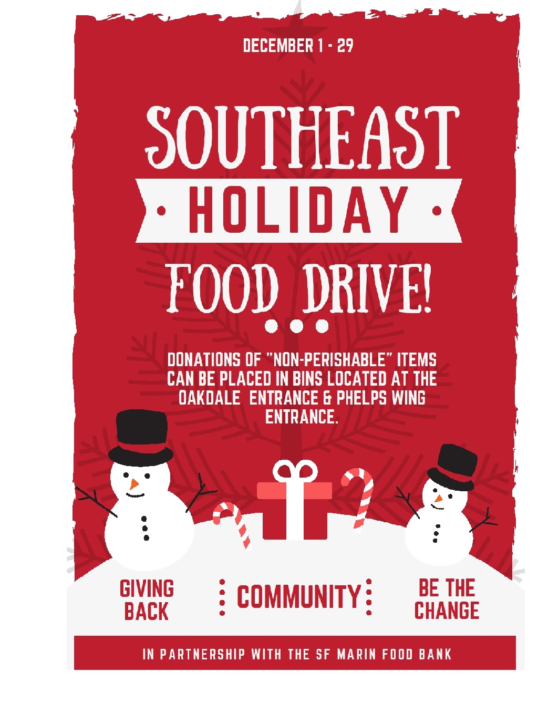 Southeast Holiday FOOD DRIVE | Southeast Community Facility
