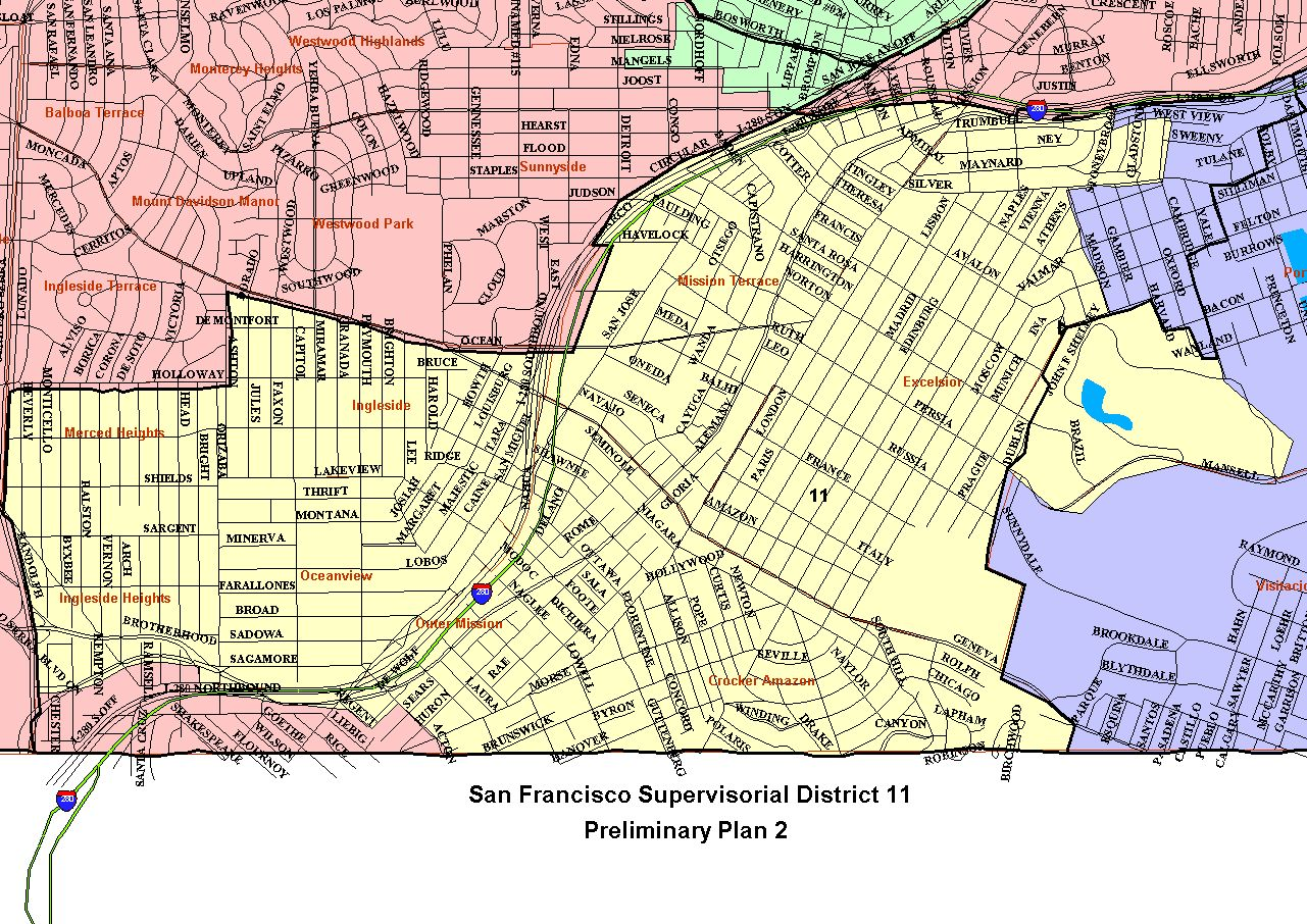 Districts Of San Francisco Map.City And County Of San Francisco Sf District Maps Data