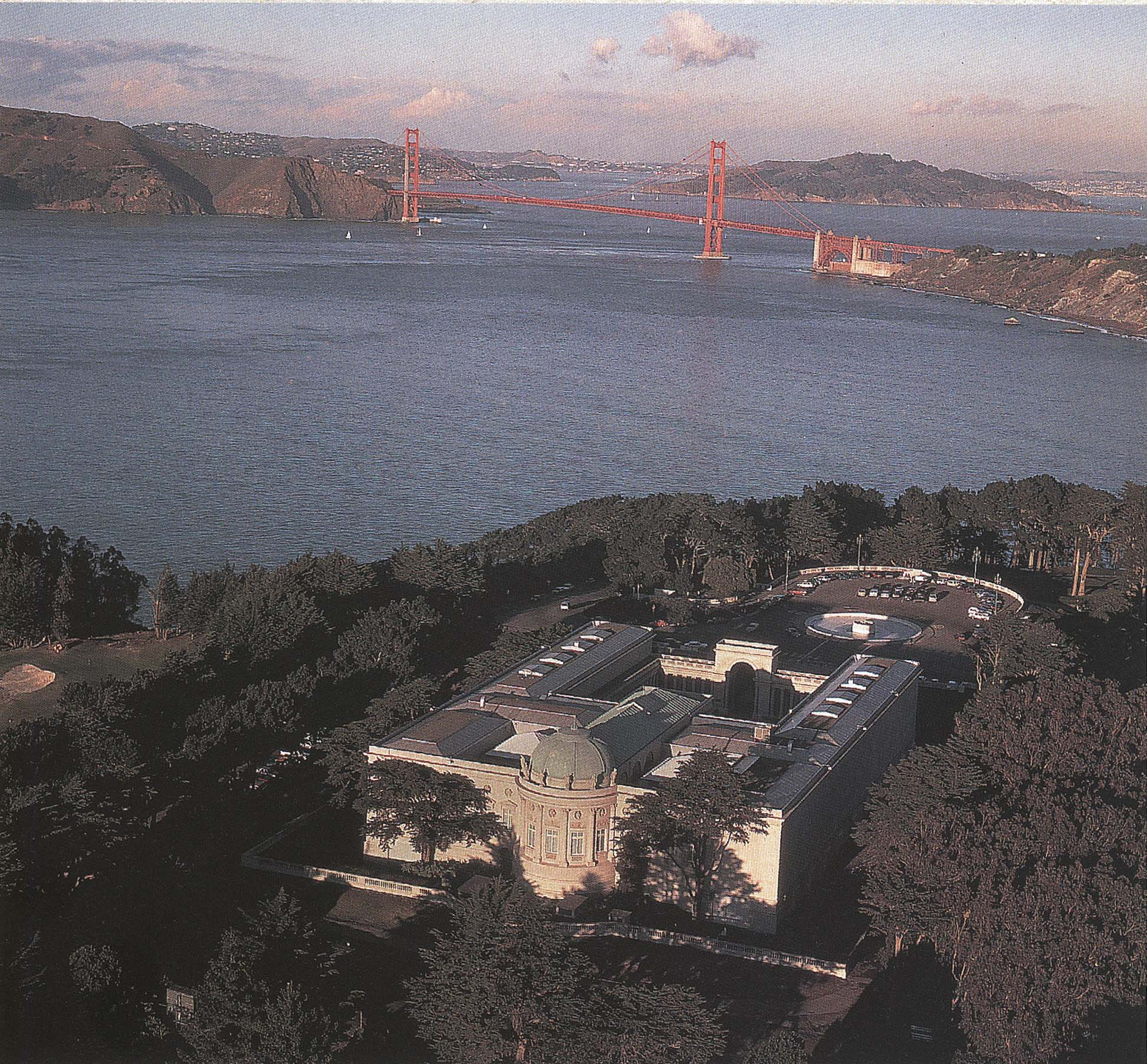 Aerial view of Legion of Honor museum