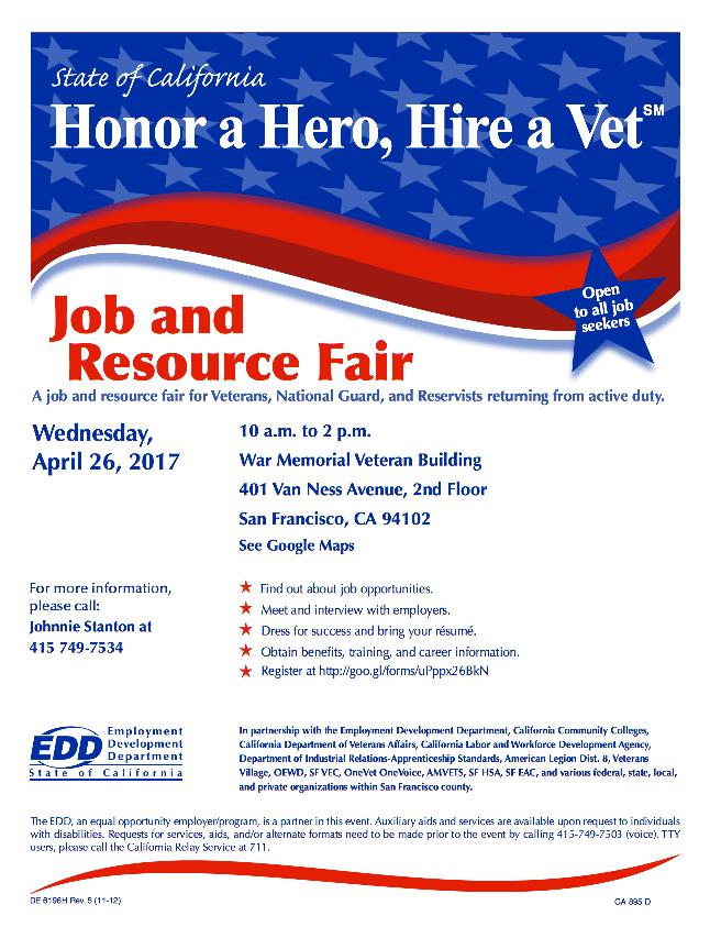 job and resource fair april 26,2017