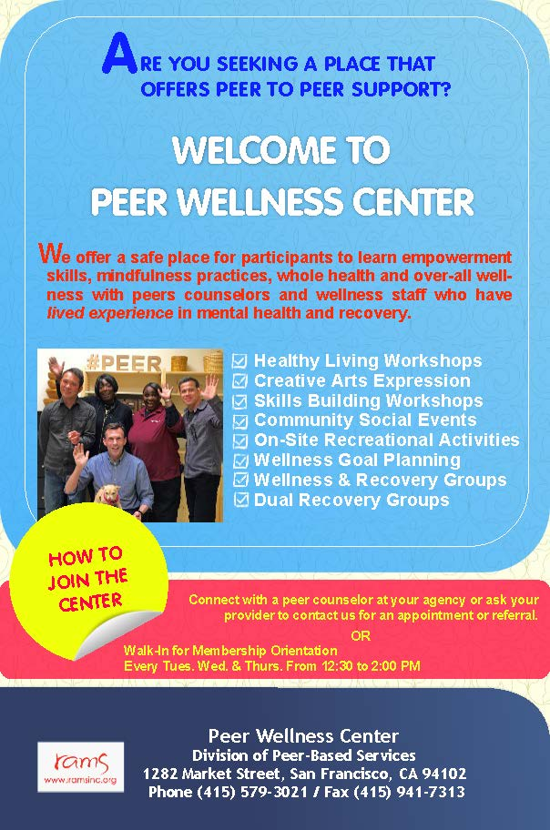Peer Wellness Center flyer