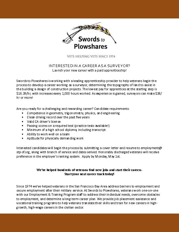 Swords to Plowshares flyer